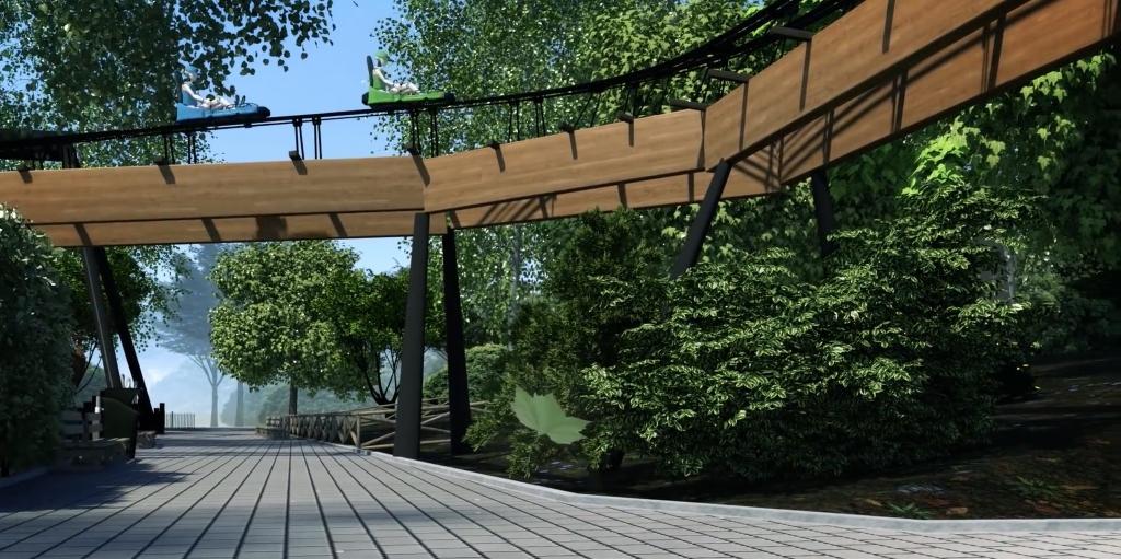 Concept van Dawson Duel, de nieuwe attractie 2017, in Bellewaerde