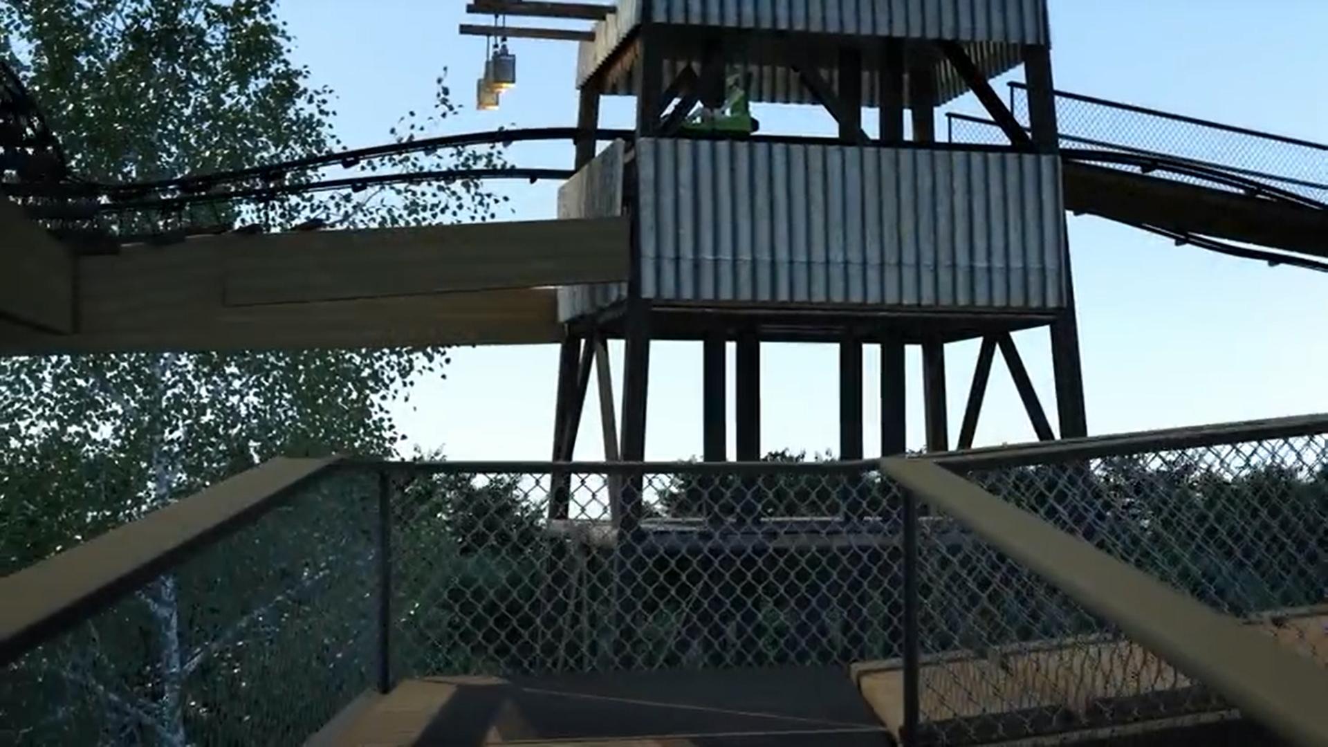 Concept van de uitkijktoren van Dawson Duel in Bellewaerde